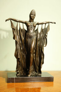 Art Deco Bronze Statue of a Dancing Girl After Chiparus