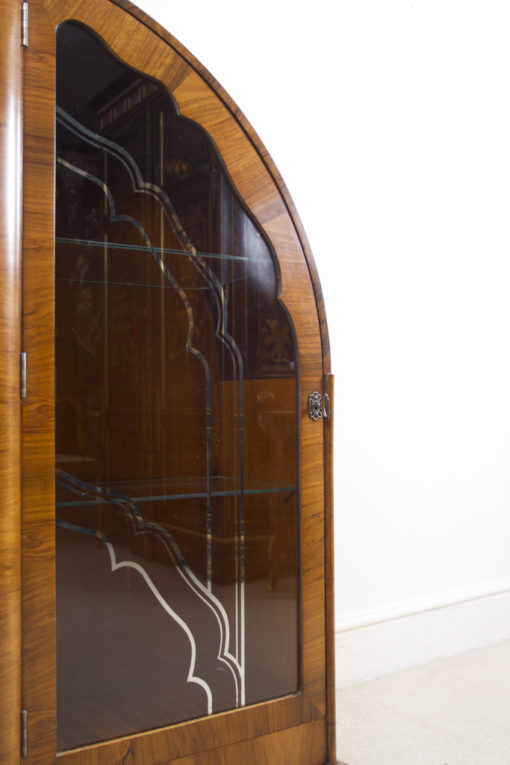 05984-Antique-Art-Deco-Walnut-Display-Cabinet-Bookcase-c.1920-4