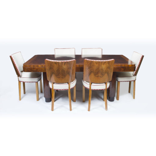 06769a-Antique-Art-Deco-Walnut-Rosewood-Dining-Table-6-Chairs-1