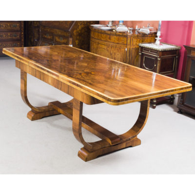 06845-Antique-Art-Deco-Burr-Walnut-Dining-Table-c.1930-7