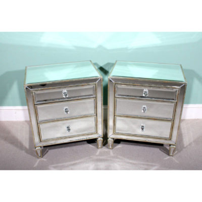 01521-Pair-Art-Deco-Style-Mirrored-Bedside-Tables-Chests-1