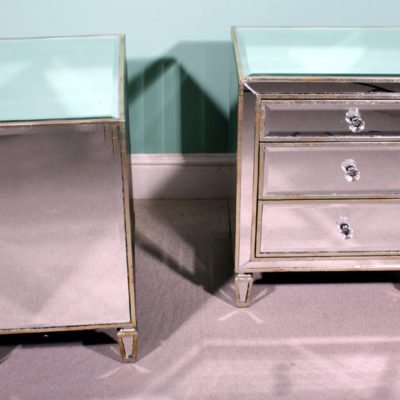 01521-Pair-Art-Deco-Style-Mirrored-Bedside-Tables-Chests-2