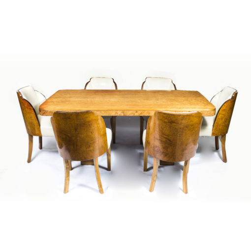 07006-Antique-Art-Deco-Dining-Table-6-Cloudback-Chairs-c.1930-1