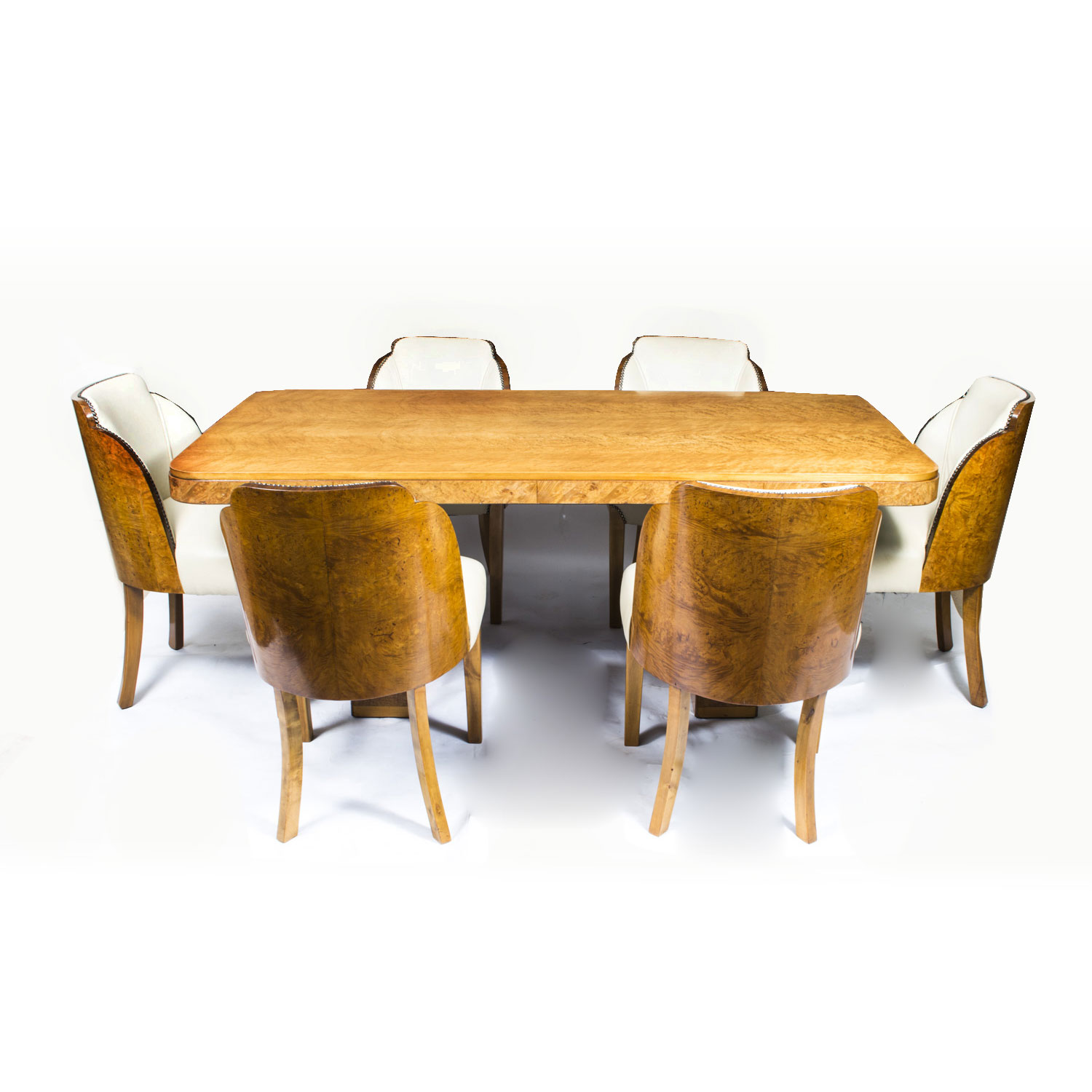 07006 Antique Art Deco Dining Table 6 Cloudback