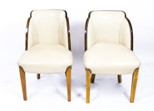 07006-Antique-Art-Deco-Dining-Table-6-Cloudback-Chairs-c.1930-11