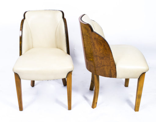 07006-Antique-Art-Deco-Dining-Table-6-Cloudback-Chairs-c.1930-12