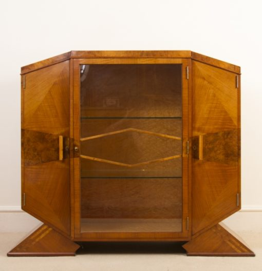 Art Deco Cabinet Satinwood c.1920