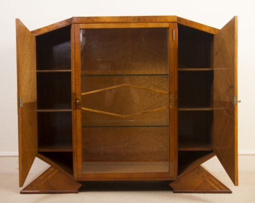 05988-Antique-Art-Deco-Satinwood-Maple-Display-Cabinet-c.1920-2