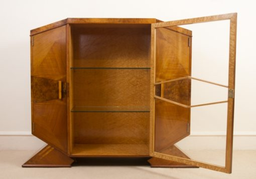 05988-Antique-Art-Deco-Satinwood-Maple-Display-Cabinet-c.1920-6