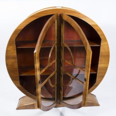 06908-Antique-Art-Deco-Figured-Walnut-Display-Cabinet-c.1930-5