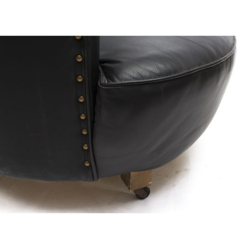 07807-Antique-Art-Deco-Black-Leather-Low-Shell-Armchair-c.1930-6