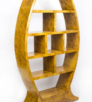 01918 Large-Large-Art-Deco-Style-Birdseye-Maple-Room-Divider-Bookcase-1