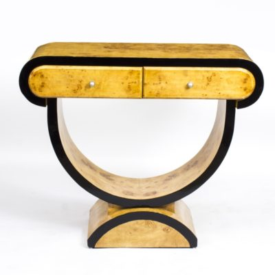 02010-Chic-Art-Deco-Birdseye-Maple-Console-Side-Table-2