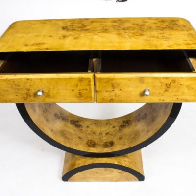 02010-Chic-Art-Deco-Birdseye-Maple-Console-Side-Table-7