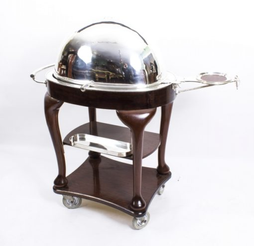 08194-Antique-Art-Deco-Drakes-D6-Silver-Plated-Beef-Carving-Trolley-C1930-16