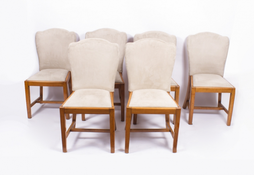 Set of six Antique Art Deco Dining Chairs in the Style of Epstein dating from c.1930